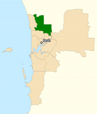 Division of Cowan - Division of Cowan in Western Australia, as of the 2016 federal election.