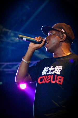 English: Rapper Dizzee Rascal performing at th...