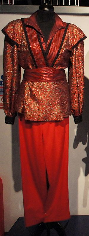The Rani (Doctor Who) - The Rani's costume in this serial, on show at the Doctor Who Experience.