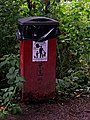 Dog waste bin (giant size) in Hurcott Wood - geograph.org.uk - 1347930.jpg