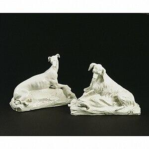 Chelsea porcelain factory - Dogs, about 1749, Chelsea Porcelain factory (V&A Museum) no. C.246A-1976