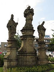 Sousoší svatého Jana Nepomuckého, svatého Vojtěcha a svatého Mikuláše