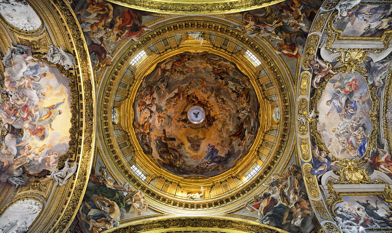 File Dome Of Church Of The Ges 249 Rome Jpg Wikimedia Commons