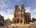 Domenico Quaglio (1787 - 1837), Die Kathedrale von Reims.jpg