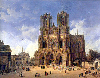 Roman Catholic Archdiocese of Reims - The Cathedral of Reims, by Domenico Quaglio