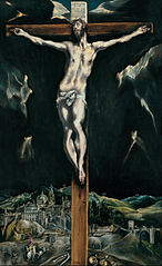 Christ crucified with Toledo in the Background
