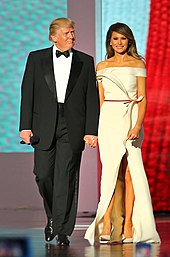 Trump and his wife Melania at the Liberty Ball on Inauguration Day