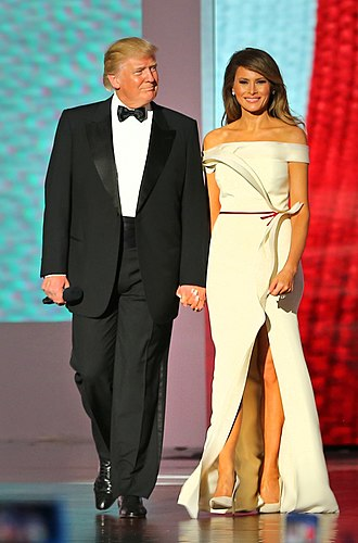 Melania Trump - Donald and Melania at the Liberty Ball on Inauguration Day, January 20, 2017