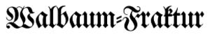 Double hyphen - Double oblique hyphen in a Fraktur typeface