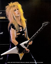 Doug Marks of Metal Method in 1985, playing his electric guitar
