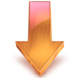 Down Arrow fire orange.png
