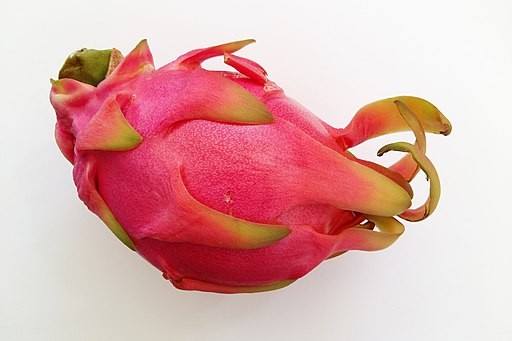 Dragon fruit (pitaya) on white background