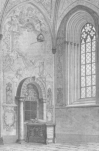 Willem Boy - Queen Catherine Jagellon's grave at Uppsala