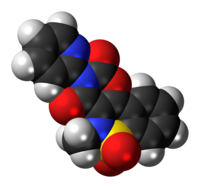 Space-filling model of the droxicam molecule