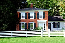 1848 Duncan House, National Register of Historic Places Cooksville Historic District, Wisconsin Duncan600.jpg