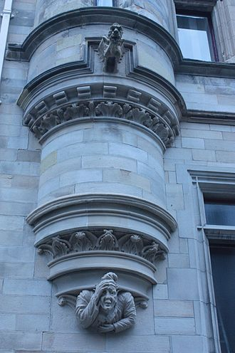 James Campbell Walker - Dunfermline City Chambers (detail)