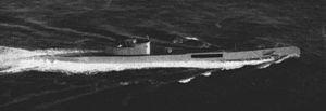 HNLMS O 24 - Image: Dutch submarine O 24 underway in 1948