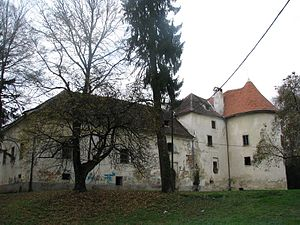 Jastrebarsko - Erdödy Castle in Jastrebarsko, originally built by Croatian ban Matija Gereb.