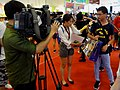 EBC News interviewing Comic Exhibition visitor 20170813.jpg