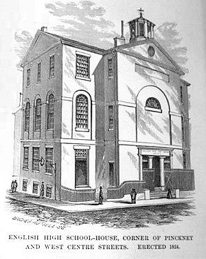 Phillips School - Image: EHS bldg Pickney anderson 1824