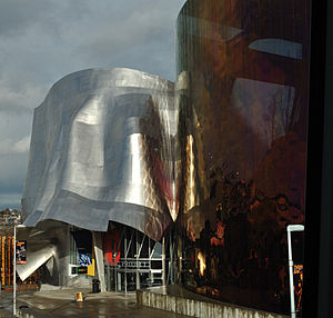 Outside the Experience Music Project and the S...