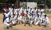 ENC Cricket Team which won the VDCA Institutional League Cricket Championship 2015-16