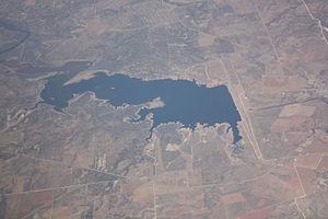 E.V. Spence Reservoir - E.V. Spence Reservoir, facing northeast, January 2009