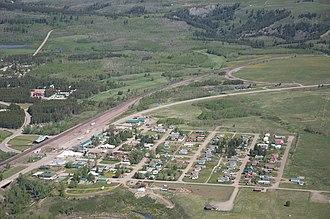 East Glacier Park Village, Montana - Image: East Glacier Park Village MT aerial
