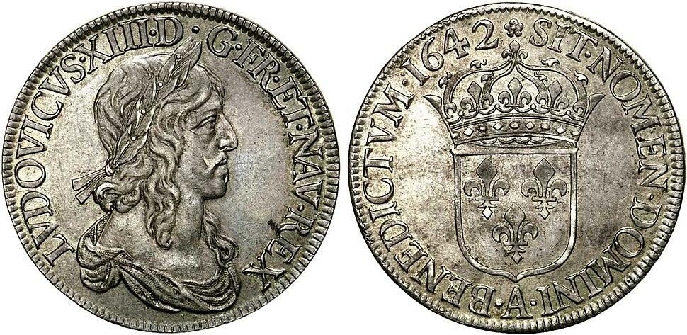 Ecu d'argent de Louis XIII le Juste