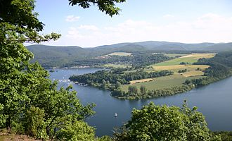 Edersee - An aerial view of the Edersee