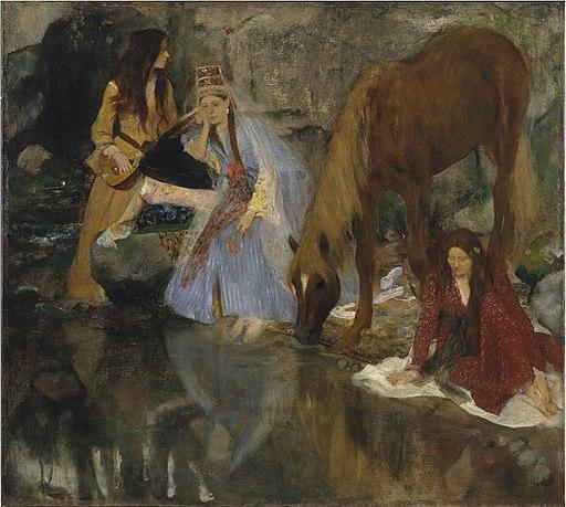 """Edgar Degas - Portrait de Mlle Eugénie Fiocre in the Ballet """"La Source"""""""