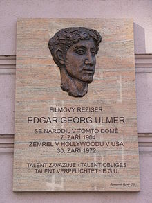 Edgar George Ulmer plaque.jpg