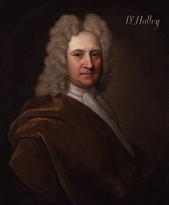Edmond Halley - Portrait by Richard Phillips, before 1722