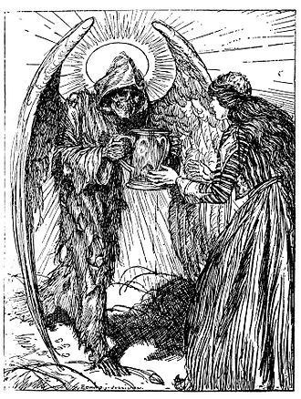 E. J. Sullivan - Sullivan's illustration for Quatrain 48 of Edward Fitzgerard's First Version of the Rubaiyat of Omar Khayyam.