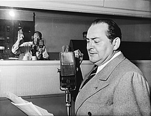 Edward Arnold (actor) - Arnold on the radio show Three Thirds of the Nation, May 6, 1942