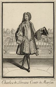 Egraving of Charles de Lorraine, Count of Marsan 1696.jpg
