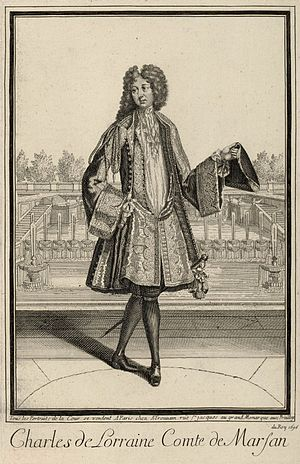 Charles, Count of Marsan - Image: Egraving of Charles de Lorraine, Count of Marsan 1696