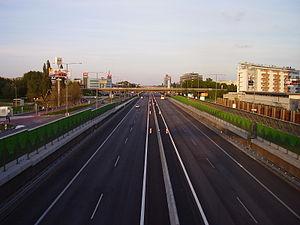 D1 motorway (Slovakia) - D1 in Bratislava-Petržalka