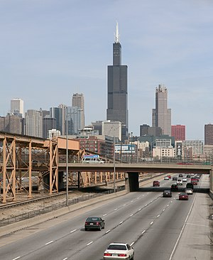 Roads and expressways in Chicago - Image: Eisenhower Expressway