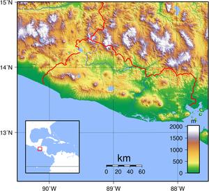 Geography of El Salvador - El Salvador's topography.