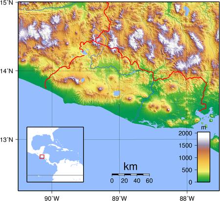 Geography Of El Salvador Wikipedia - Political map el salvador