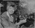 Eleanor Roosevelt and Fala at Val,Kill in Hyde Park, New York - NARA - 196181.tif