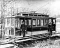 Electric streetcar of the Seattle Consolidated Street Railway Co, ca 1894 (SEATTLE 64).jpg