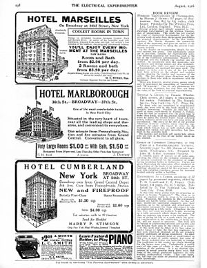 Experimenter Publishing -  Hotel filler ads