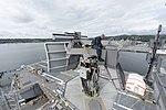 Electronics Technician cleaning and inspecting SPN-43C radar aboard USS Nimitz (CVN-68) 150916-N-QY316-044.jpg