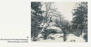 Kaiserin-Elisabeth Denkmal. Czernowitz, Bukowi...