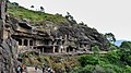 Ellora Caves Wide angle View.jpg