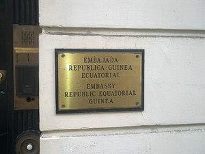 Embassy of Equatorial Guinea, London - Image: Embassy of Equatorial Guinea in London 2