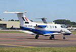 Embraer Phenom 100 trainer of the RAF (PR-PHK) at RIAT Fairford 13July2017 arp.jpg