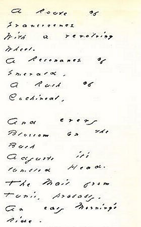 Emily Dickinson%C2%B4s (1830-1886) manuscript of %22A route of evanescence%22 (1880)
